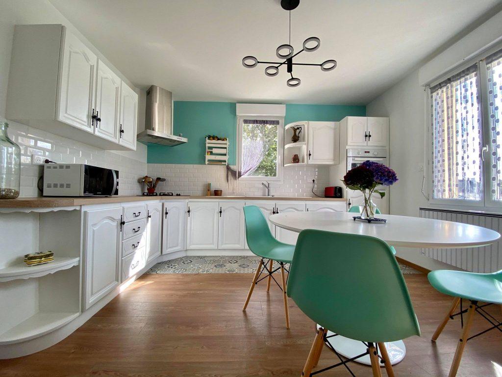 rénovation de meuble peinture sol deco